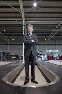 Veghel, 6 maart 2013. Vanderlande CEO Michiel Peters. Vanderlande is wereldmarktleider op het gebied van bagageafhandelingsystemen. Daarnaast maken ze allerlei transportbandsystemen en automatiseringsystemen.