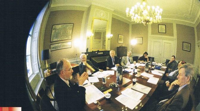 Klimaatdebat mmv ministerie VROM bij KIVI, 1996 met prof. dr.  Jan Commandeur, prof. dr. ir. Pier Vellinga, dr. Frits Bottcher e.v.a.