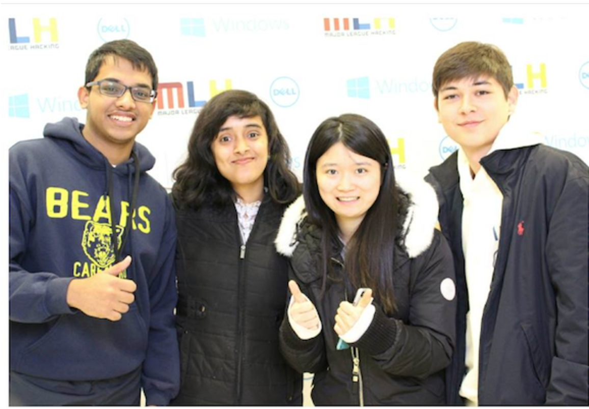 Anant Goel, Nabanita De, Qinglin Chen and Mark Craft at Princeton's hackathon (Anant Goel)
