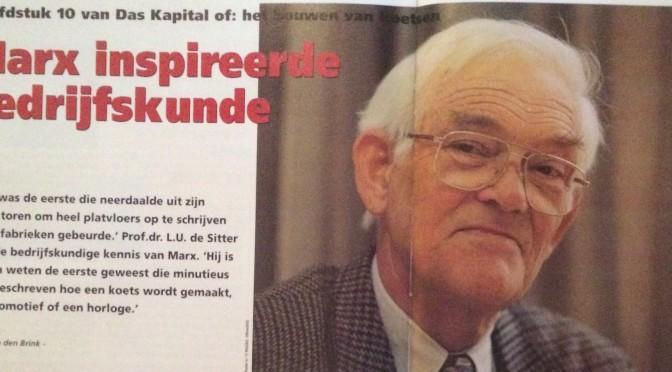 Hoofdstuk 10 van Das Kapital of: het bouwen van koetsen    Marx inspireerde bedrijfskunde, De Sitter (interview)