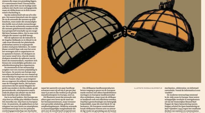 Essay in Het Financieele Dagblad, zaterdag 13 februari: Gelijke toegang tot beter leven weert migratiegolf