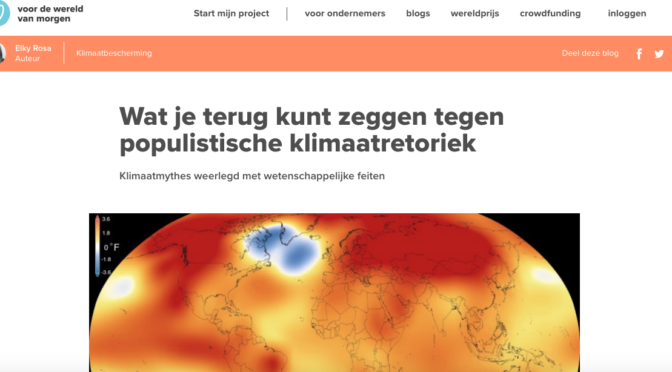 Klimaatkritiek is geen populistische retoriek